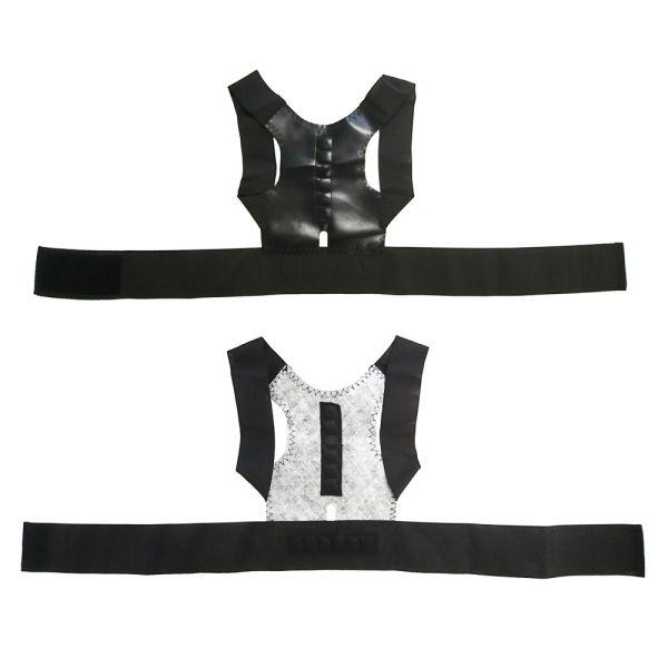 猫背矯正ベルト - 装着すると両肩を後ろ側に引っ張る力が働き、正しい姿勢を維持することができます