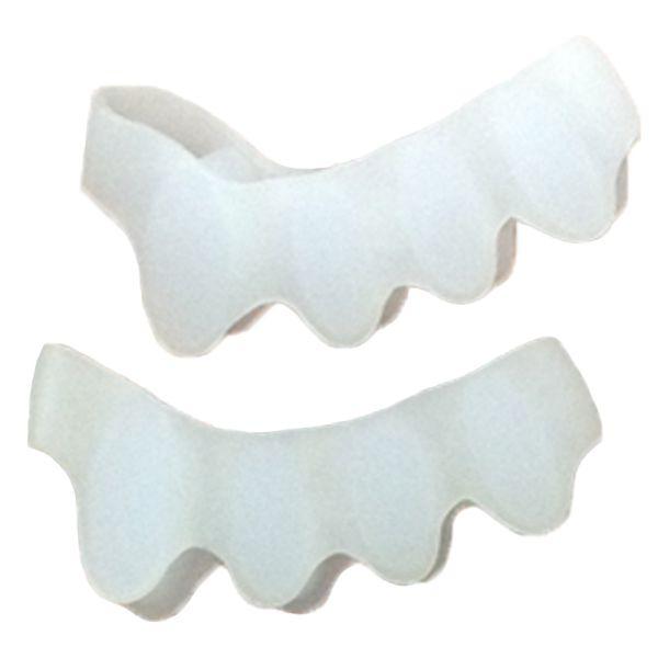 足指シリコンパッド - 足指を理想的な位置に広げることにより、萎縮を解消し、外反母趾を予防することができるパッドです