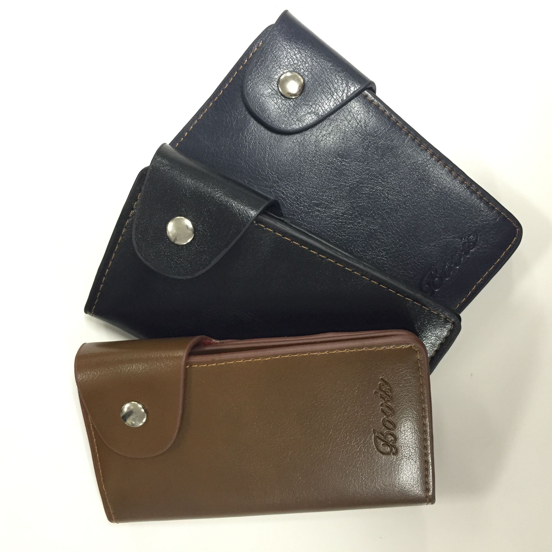 メンズキーケースB - シンプルなデザインのカード収納ポケット付き5連キーケースです。