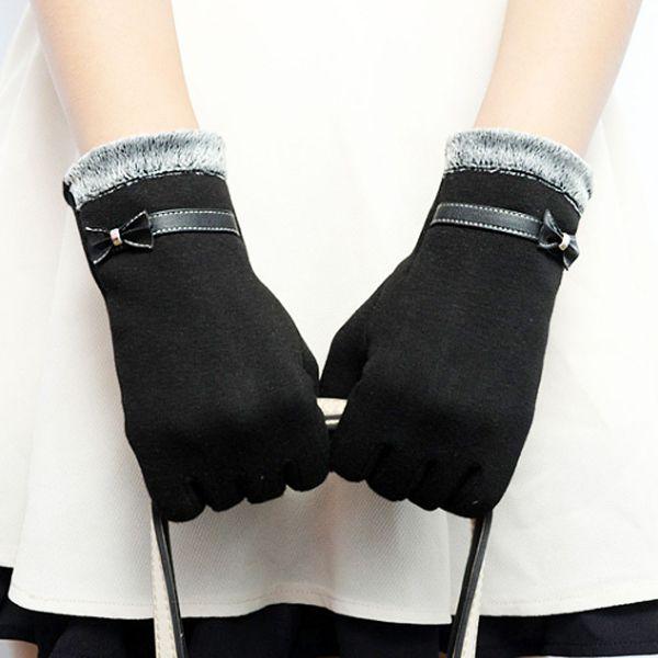エレガント手袋 - エレガントな裏毛付きスマホ対応手袋です