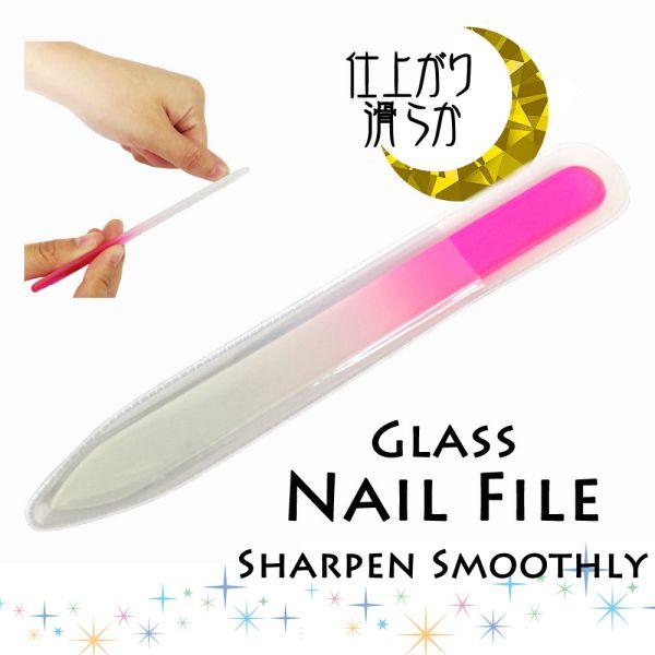 シャーペン・スムースリー - 特殊加工により、ガラス表面にミクロンレベルの突起が無数に施されたガラス製爪やすりです。
