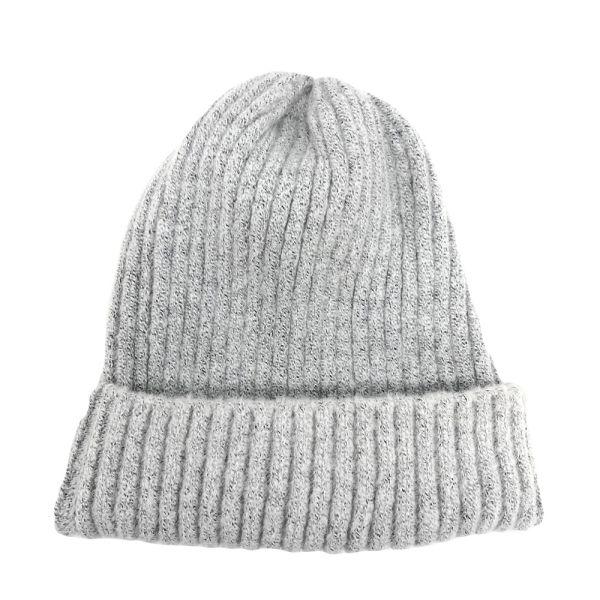 シンプルニット帽 - お洋服に合わせやすい無地のシンプルなニット帽です